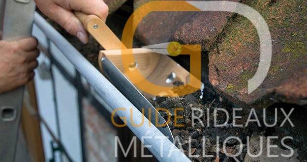 guide rideau metallique